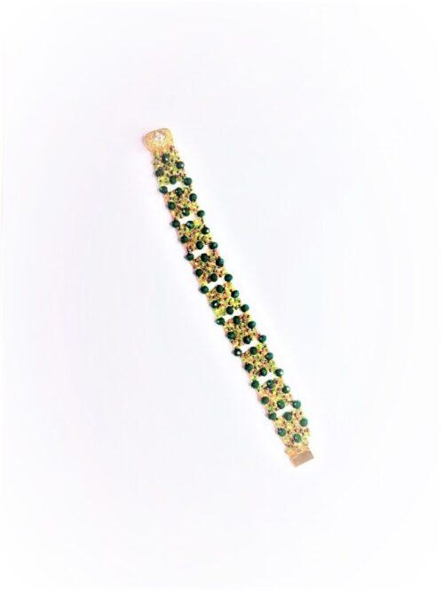Braccialetto Green fatto con mix di perline, modello unico