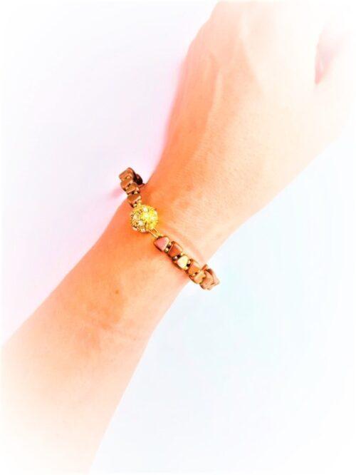 Bracciale Mariane con mix di perline, handmade