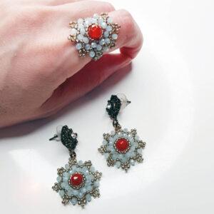 Anello e orecchini coordinati